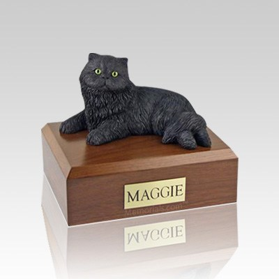 Persian Black Small Cat Cremation Urn