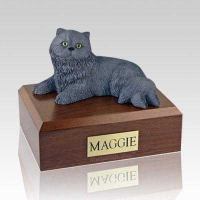 Persian Grey Large Cat Cremation Urn