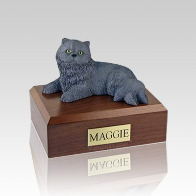 Persian Grey Small Cat Cremation Urn