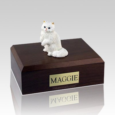 Persian White Paw Large Cat Cremation Urn