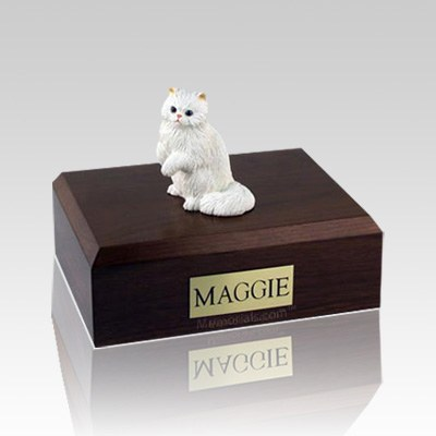 Persian White Paw Medium Cat Cremation Urn
