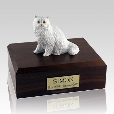 Persian White Paw X Large Cat Cremation Urn