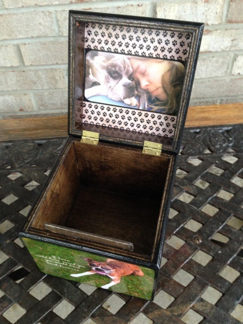 Photo Cube Large Pet Urn With Photo Lid