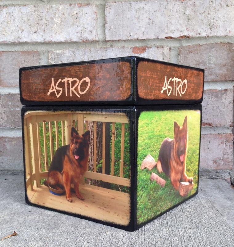 Photo Cube Medium Pet Urn