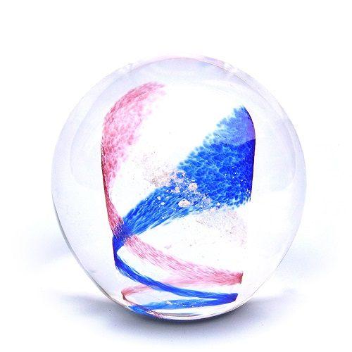 Pink & Ocean Blue Swirl Memory Glass Keepsake