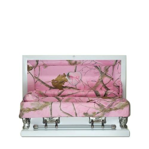 Pink Camo Child Caskets