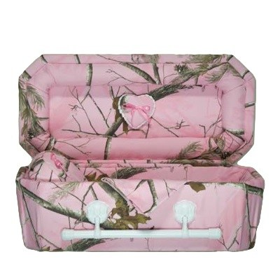 Pink Camouflage Child Caskets