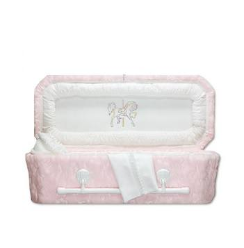 Pink Carousel Child Caskets