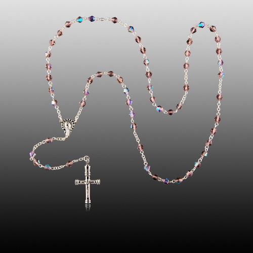 Pink Crystal Cremation Rosaries