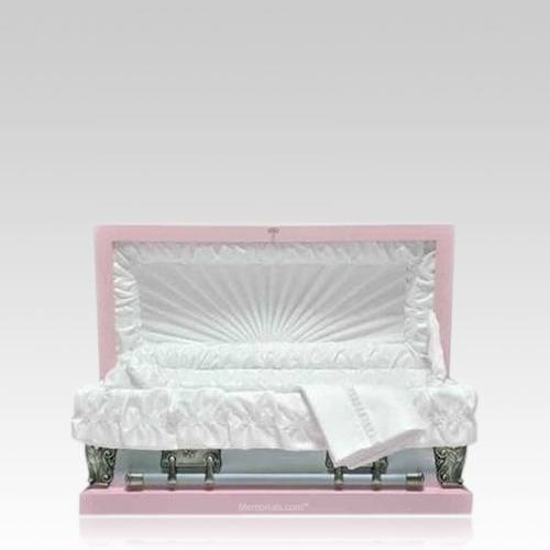 Pink Metal Pet Caskets