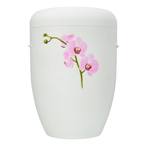 Pink Orchid Biodegradable Urn