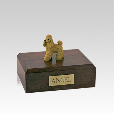 Poodle Apricot Standing Small Dog Urn