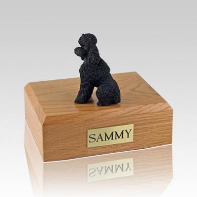 Poodle Black Sport Cut Large Dog Urn
