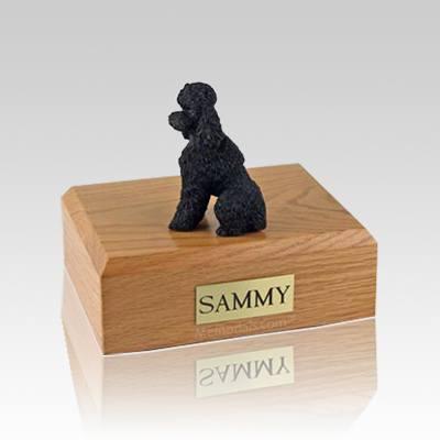 Poodle Black Sport Cut Medium Dog Urn