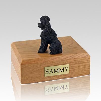 Poodle Black Sport Cut X Large Dog Urn