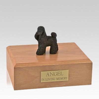 Poodle Black Standing Large Dog Urn