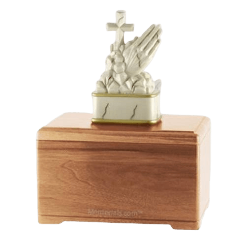 Praying Light Cherry Cremation Urn