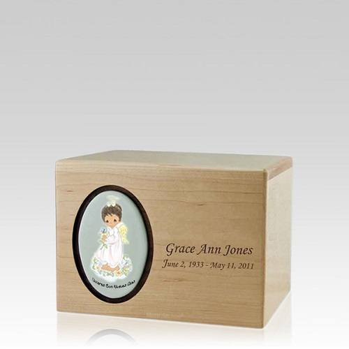 Precious Moments African American Girl Small Urn