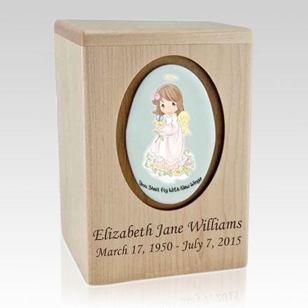 Precious Moments Brunette Girl Child Urns