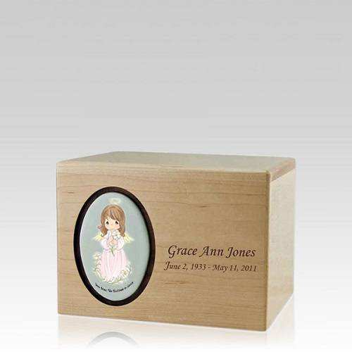 Precious Moments Brunette Girl Small Urn II
