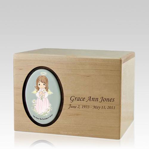Precious Moments Brunette Girl Urn II