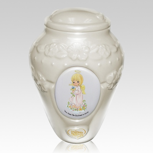 Precious Moments Caucasian Girl Urns