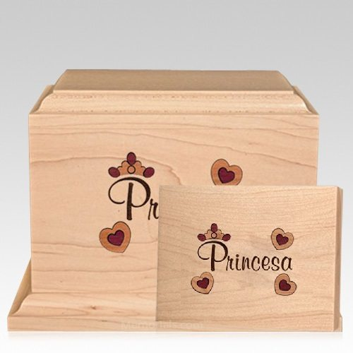 Princesa Urnas de Cremacion de Madera para Ninos
