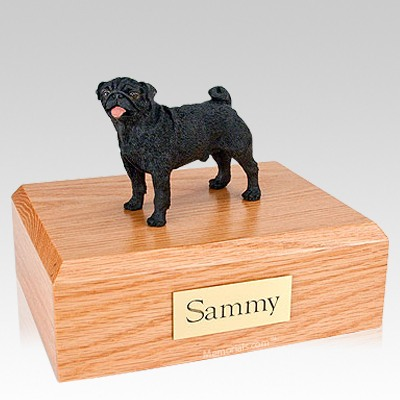 Pug Black Dog Urns
