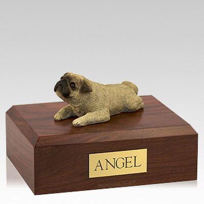 Pug Fawn Laying Dog Urns