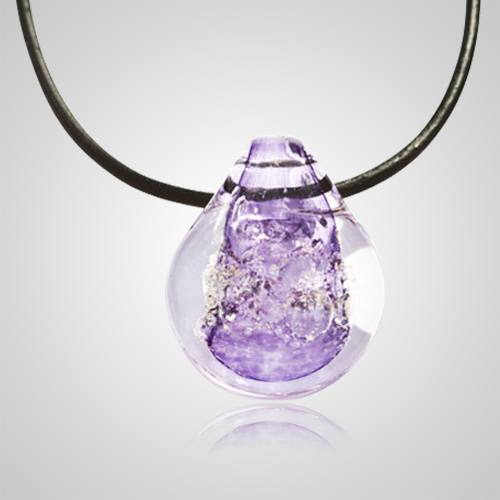 Purple Memory Glass Pendants