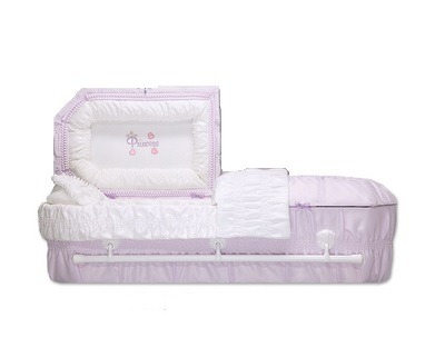 Purple Princess Child Caskets