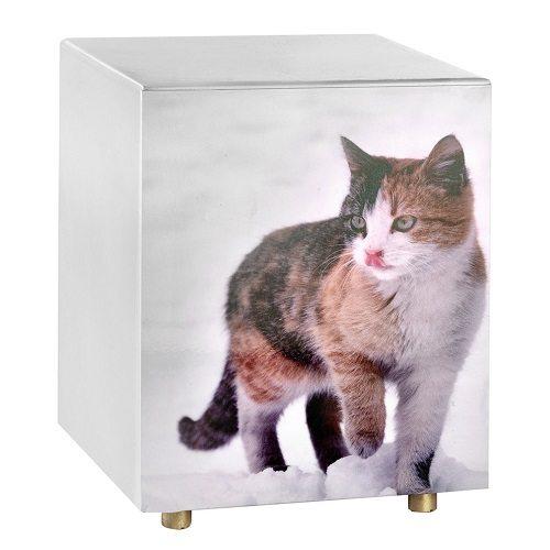 Purring Portrait Cat Urn