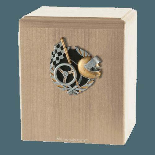 Race Car Maple Cremation Urn