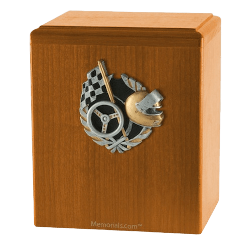 Race Car Oak Cremation Urn