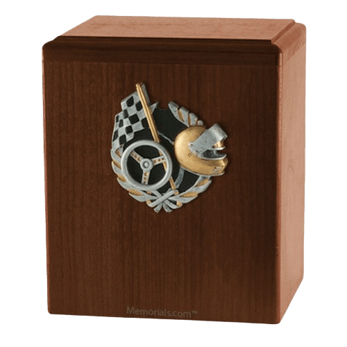 Race Car Walnut Cremation Urn