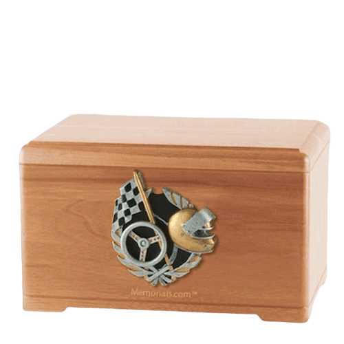 Racecar Fan Light Cherry Cremation Urn