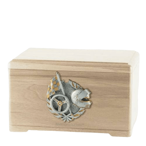 Racing Fan Maple Cremation Urn