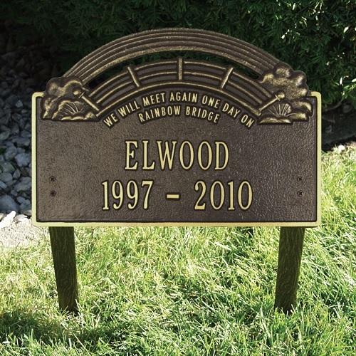Rainbow Bridge Memorial Stone : Rainbow bridge pet memorial plaque