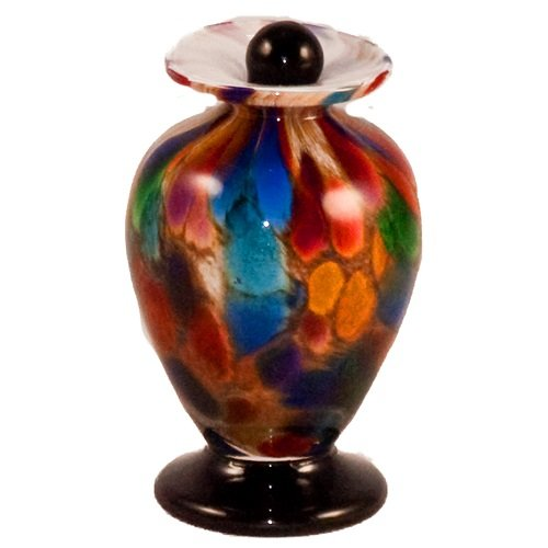 Rainbow Glass Keepsake Urn