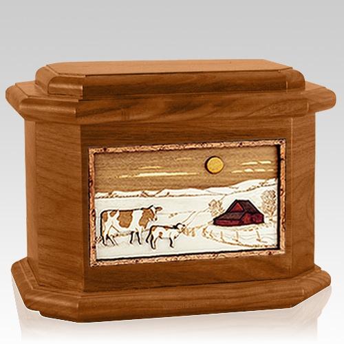 Ranch Mahogany Octagon Cremation Urn