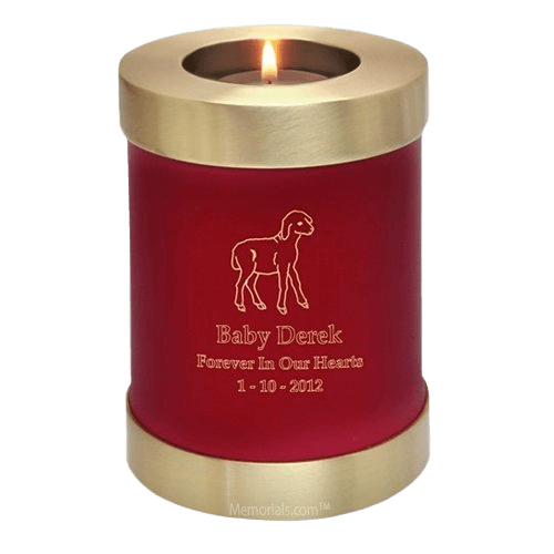 Red Child Candle Cremation Urns