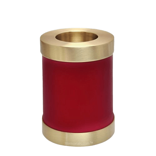 Red Child Candle Small Cremation Urn