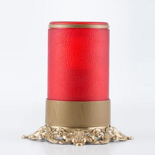 Red Ornate Memorial Candle