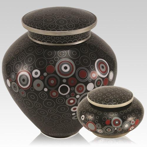 Retro Noir Cloisonne Cremation Urns