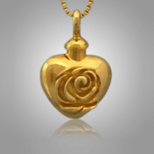 Rose Heart Cremation Jewelry II