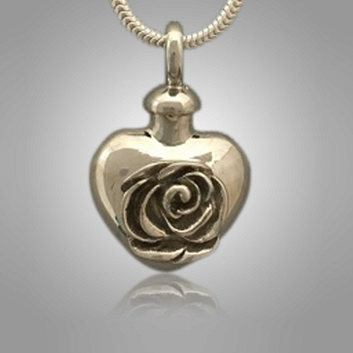 Rose Heart Cremation Jewelry