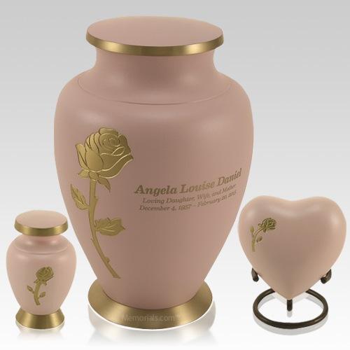 Rose Powder Cremation Urns