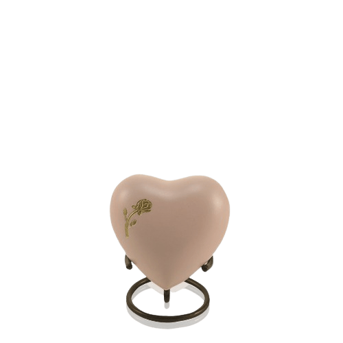 Rose Powder Heart Cremation Urn