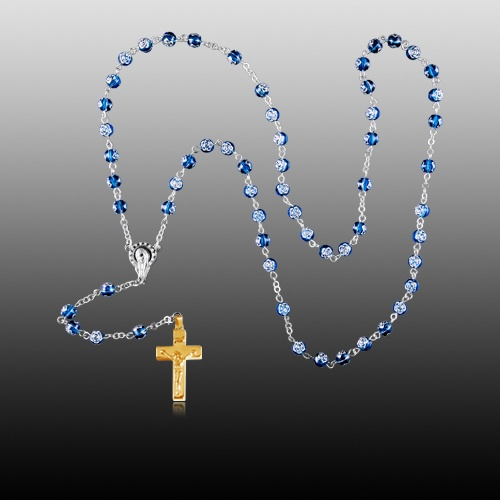 Rosette Gold Cremation Rosary