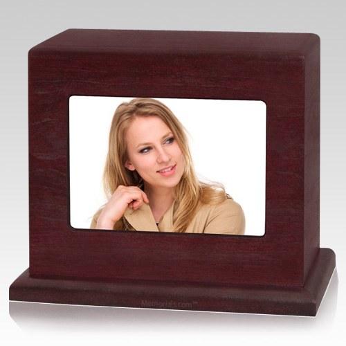 Rosewood Photo Child Cremation Urn